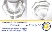 OK-Modell aus klarem oder rosa Acryl , Zahnstatus 14-23 für Kronen, Teleskope oder Modellguss.