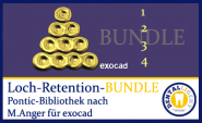 BUNDLE - 1-2-3-4-hole retentions - according to Michael Anger for the Pontic library for exocad