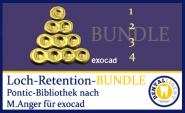 BUNDLE - 1-2-3-4-Loch-Retentionen - nach Michael Anger für die Pontic-Bibliothek für exocad