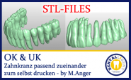 STL-FILES  - upper jaw & lower jaw teeth row matching each other to print by yourself.