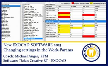 Changing settings in the Work-Params